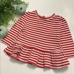 Baby Gap striped peplin shirt